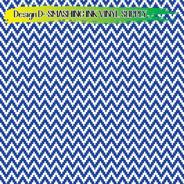 Blue White Pattern - Pattern Vinyl (READY IN 3 BUS DAYS)