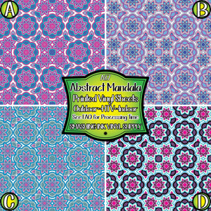 Abstract Mandala - Pattern Vinyl (MTO-3 BUS DAYS)