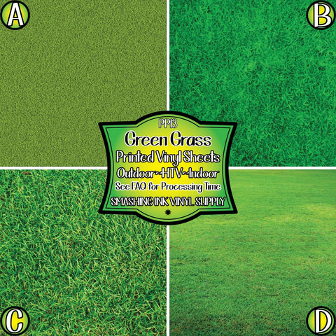 Green Grass - Patterned Vinyl Done Printed
