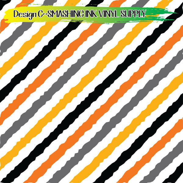Halloween Stripe - Pattern Vinyl (SHIPS IN 3 BUS DAYS)