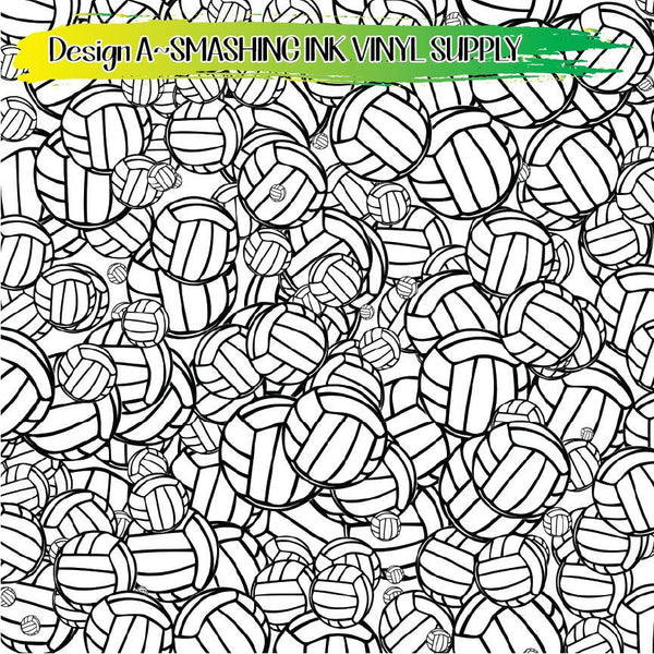 Volleyball Pattern - Pattern Vinyl (READY IN 3 BUS DAYS)