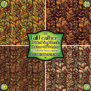 Fall Feathers - Pattern Vinyl (MTO-3 BUS DAYS)