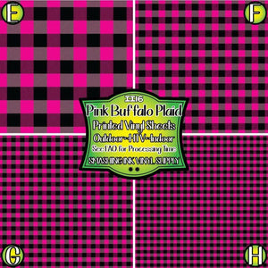 Pink Buffalo Plaid - Pattern Vinyl (READY IN 3 BUS DAYS)