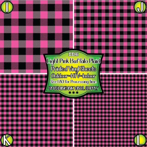 Light Pink Buffalo Plaid - Pattern Vinyl (MTO-3 BUS DAYS)
