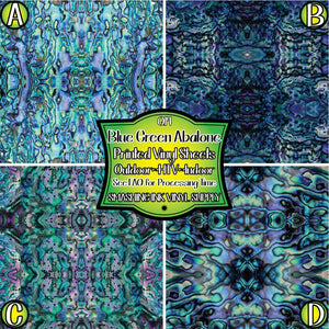 Blue Green Abalone - Pattern Vinyl (MTO-3 BUS DAYS)