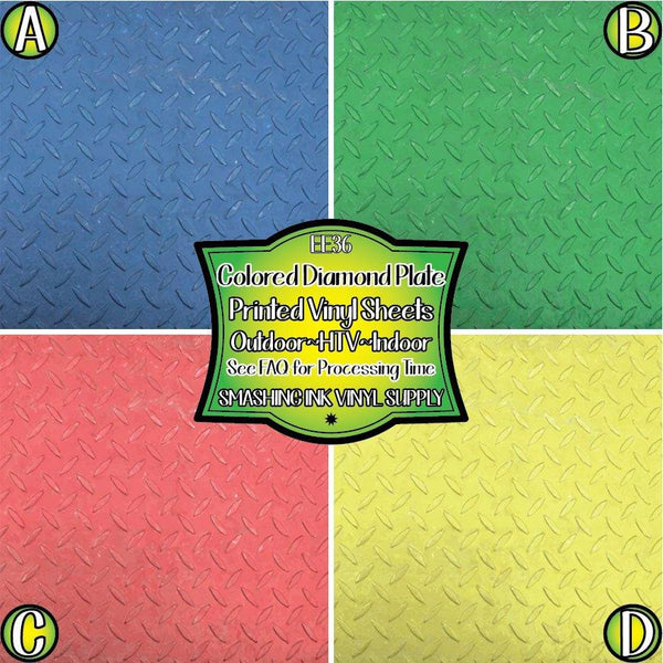 Colorful Diamond Plate - Pattern Vinyl (READY IN 3 BUS DAYS)