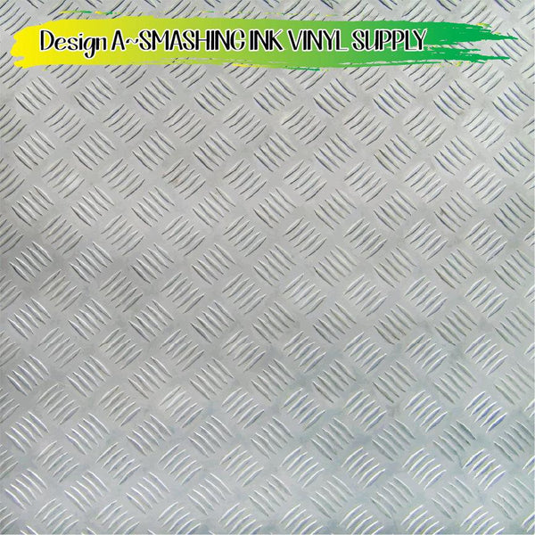 Diamond Plate Colored - Pattern Vinyl (SHIPS IN 3 BUS DAYS)