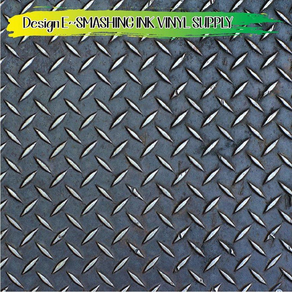 Distress Diamond Plate - Pattern Vinyl (MTO-3 BUS DAYS)