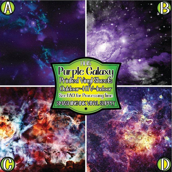Purple Galaxy Space - Pattern Vinyl (READY IN 3 BUS DAYS)