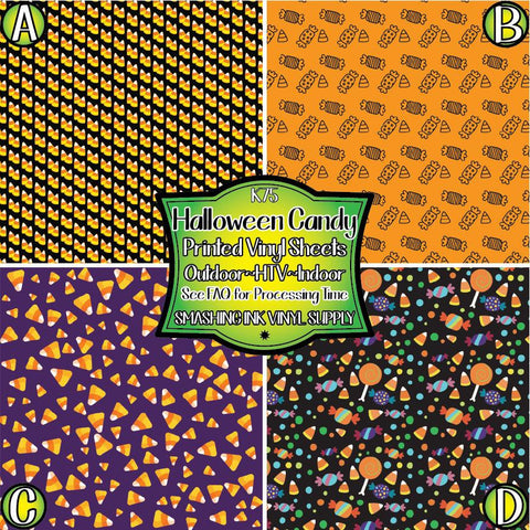 Halloween Candy - Patterned Vinyl Done Printed