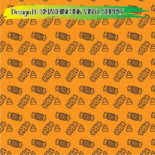Halloween Candy - Pattern Vinyl (SHIPS IN 3 BUS DAYS)