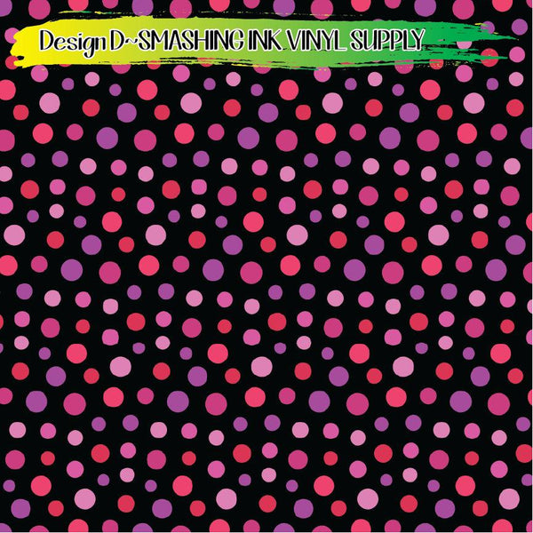 Pink Dotted Circle - Pattern Vinyl (SHIPS IN 3 BUS DAYS)