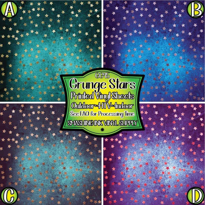 Stars Grunge - Pattern Vinyl (READY IN 3 BUS DAYS)