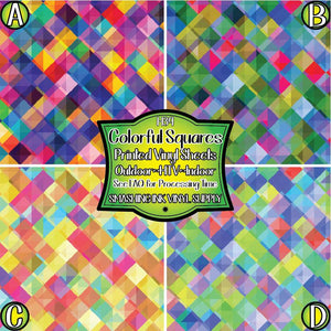 Colorful Squares - Pattern Vinyl (MTO-3 BUS DAYS)