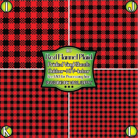 Red Flannel Plaid - Patterned Vinyl Done Printed