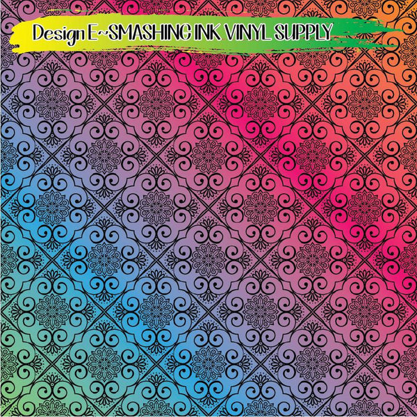 Ornamental Floral - Pattern Vinyl (READY IN 3 BUS DAYS)