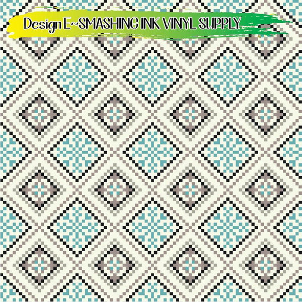 Winter Pixel Pattern - Pattern Vinyl (READY IN 3 BUS DAYS)