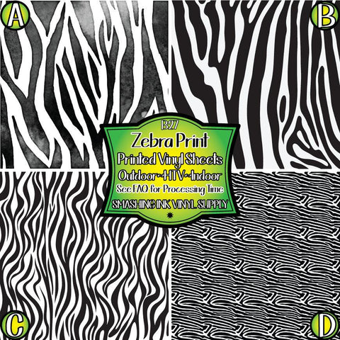 Zebra Animal Print - Patterned Vinyl Done Printed