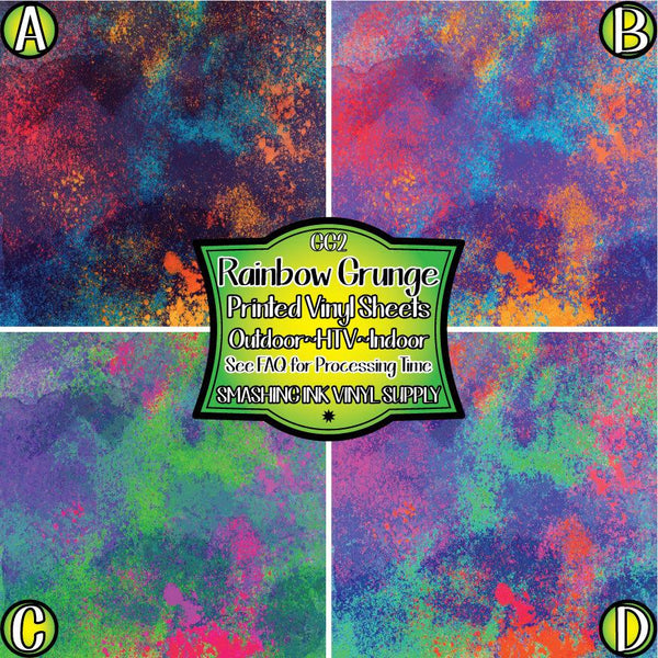 Colorful Grunge Print - Pattern Vinyl (READY IN 3 BUS DAYS)