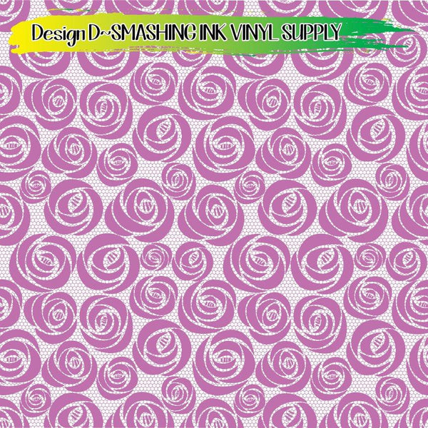 Rose Lace - Pattern Vinyl (READY IN 3 BUS DAYS)