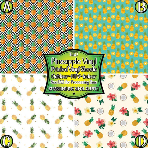 Pineapple Printed - Patterned Vinyl Done