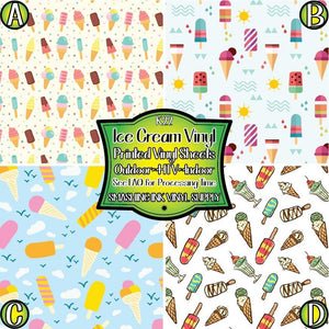 Ice Cream Printed - Pattern Vinyl (READY IN 3 BUS DAYS)
