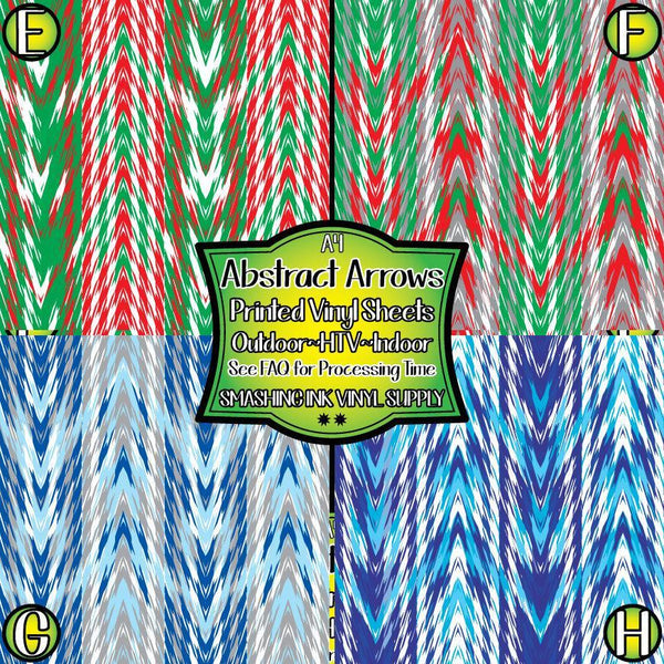 Holiday Abstract Arrow - Pattern Vinyl (READY IN 3 BUS DAYS)