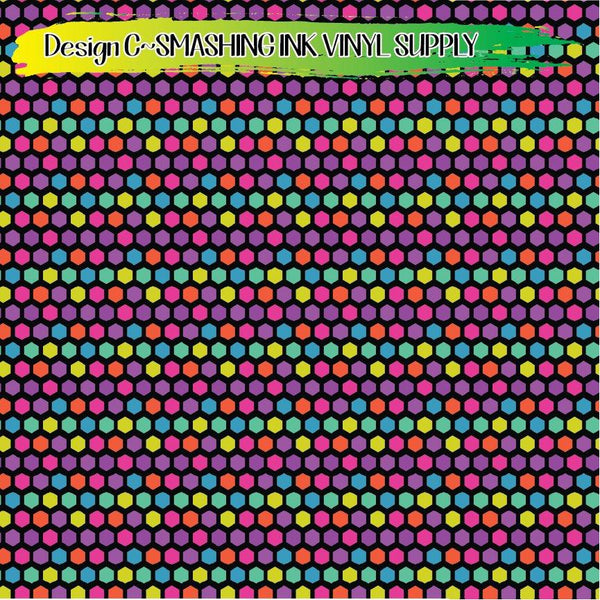 Colorful Hexagon - Pattern Vinyl (READY IN 3 BUS DAYS)