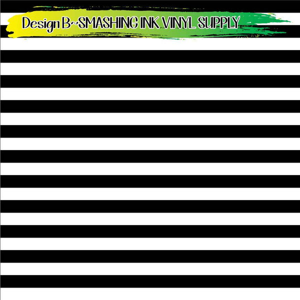 Black White Striped - Pattern Vinyl (READY IN 3 BUS DAYS)