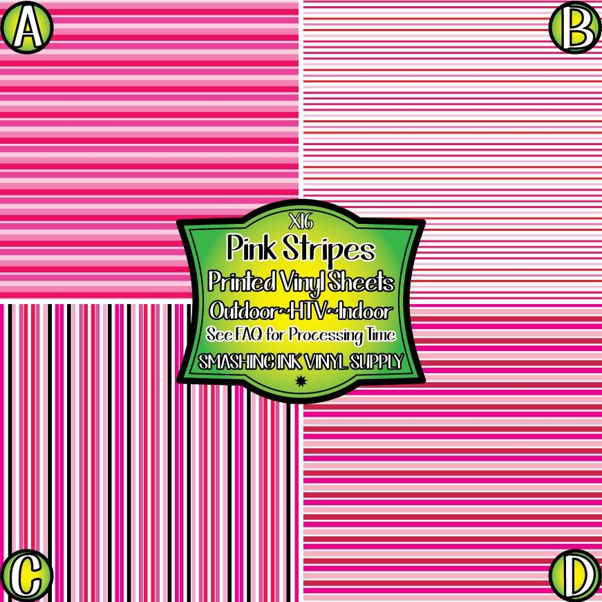 Pink Striped - Pattern Vinyl (SHIPS IN 3 BUS DAYS)
