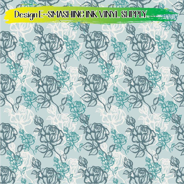 Rose Floral - Pattern Vinyl (READY IN 3 BUS DAYS)