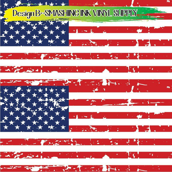 American Flag - Pattern Vinyl (SHIPS IN 3 BUS DAYS)