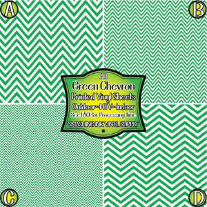 Green White Chevron - Pattern Vinyl (SHIPS IN 3 BUS DAYS)