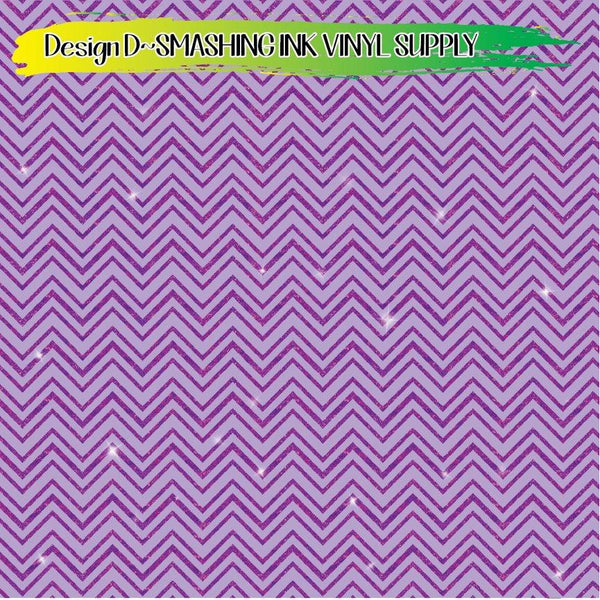 Glitter Chevron - Pattern Vinyl (READY IN 3 BUS DAYS)