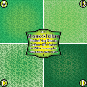 Shamrock Pattern - Pattern Vinyl (READY IN 3 BUS DAYS)
