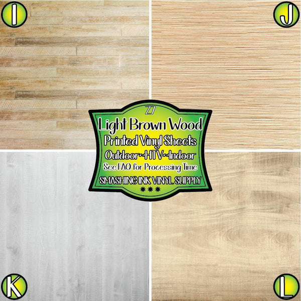 Light Brown Wood - Pattern Vinyl (READY IN 3 BUS DAYS)