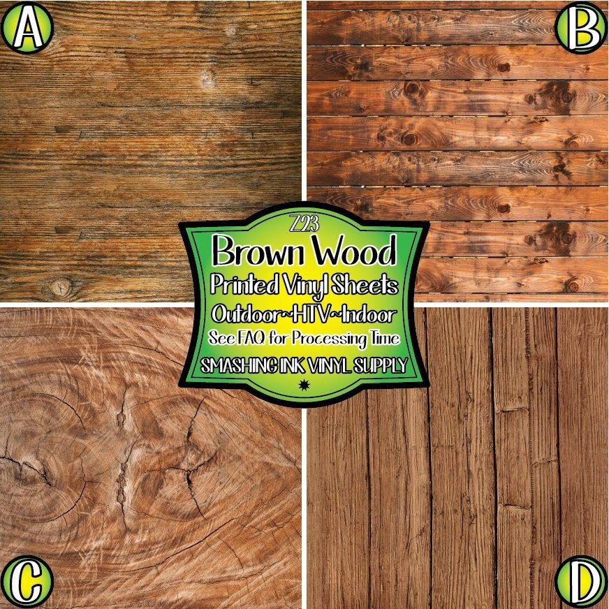 Brown Wood Texture - Pattern Vinyl (READY IN 3 BUS DAYS)