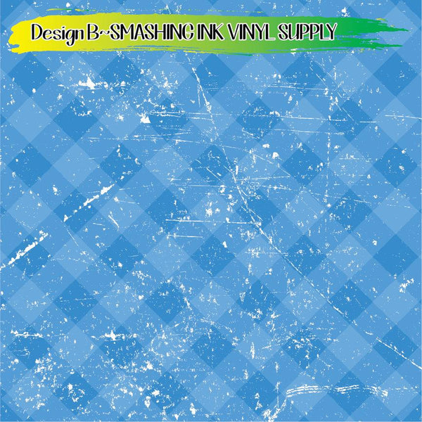 Distress Plaid - Pattern Vinyl (READY IN 3 BUS DAYS)