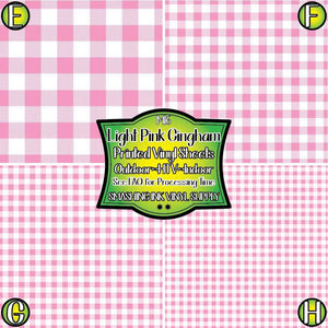 Light Pink Gingham - Pattern Vinyl (SHIPS IN 3 BUS DAYS)