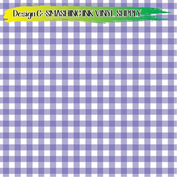 Light Purple Gingham - Pattern Vinyl (SHIPS IN 3 BUS DAYS)