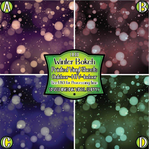 Winter Bokeh  Pattern - Pattern Vinyl (SHIPS IN 3 BUS DAYS)