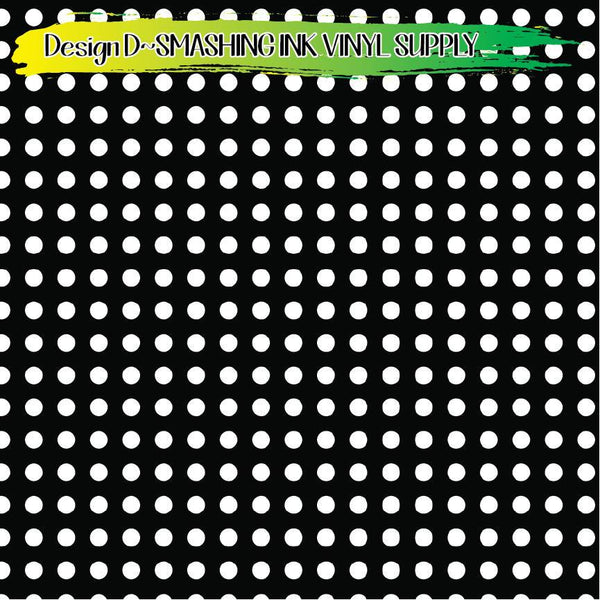 Black White Dotted - Pattern Vinyl (READY IN 3 BUS DAYS)