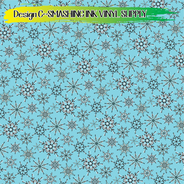 Snowflake Watercolor - Pattern Vinyl (READY IN 3 BUS DAYS)