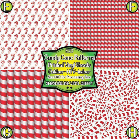 Candy Cane - Pattern Vinyl (SHIPS IN 3 BUS DAYS)