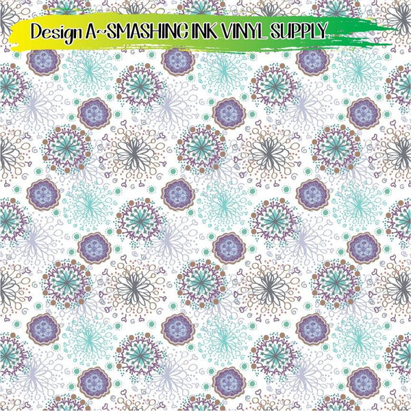 Whimsical Snowflake - Pattern Vinyl (SHIPS IN 3 BUS DAYS)
