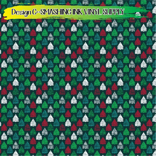 Distress Holiday Tree - Pattern Vinyl (SHIPS IN 3 BUS DAYS)