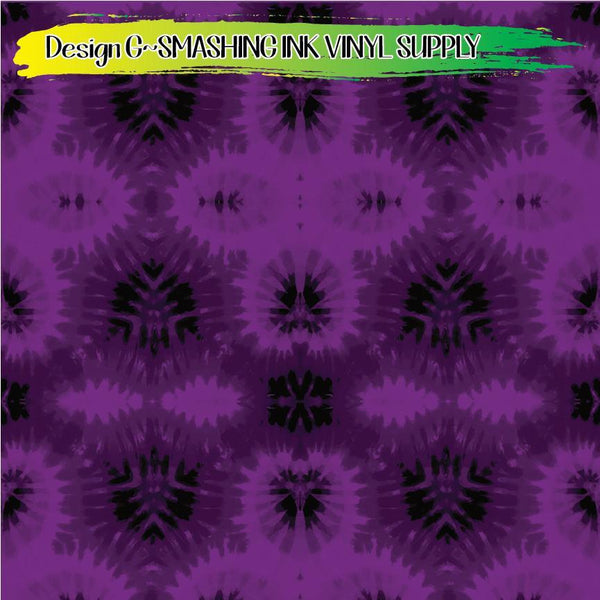 Purple Tie Dye - Pattern Vinyl (READY IN 3 BUS DAYS)
