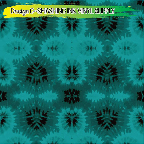 Teal Tie Dye - Pattern Vinyl (READY IN 3 BUS DAYS)