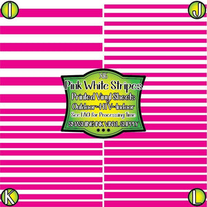 Pink White Stripes - Pattern Vinyl (SHIPS IN 3 BUS DAYS)