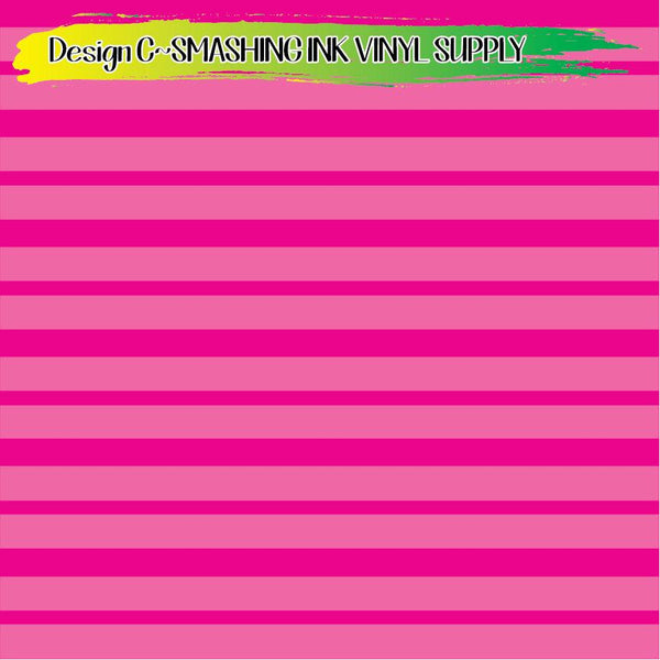 Pink Stripes - Pattern Vinyl (SHIPS IN 3 BUS DAYS)